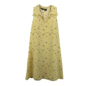 The Limited Womens Size 10 Sun Dress Floral Yellow